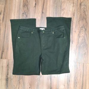 Isaac Mizrahi Live! Size 16 Army Green Khaki Pants